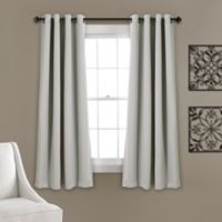 Lush Décor Insulated 63-Inch Grommet Room Darkening Window Curtain Panels in Lt. Grey