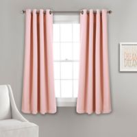 Lush Décor Insulated 63-Inch Grommet Room Darkening Window Curtain Panel Pair in Pink