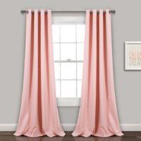 Lush Décor Insulated 84-Inch Grommet Room Darkening Window Curtain Panel Pair in Pink