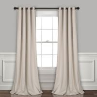 Lush Décor Insulated 95-Inch Grommet Room Darkening Window Curtain Panel Pair in Wheat