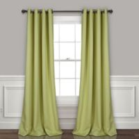 Lush Décor Insulated 84-Inch Grommet Room Darkening Window Curtain Panel Pair in Sage
