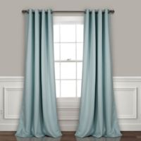 Lush Décor Insulated 95-Inch Grommet Room Darkening Window Curtain Panel Pair in Blue