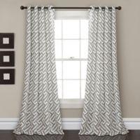 Lush Decor Giovana 84-Inch Grommet Room Darkening Window Curtain Panel Pair in Grey