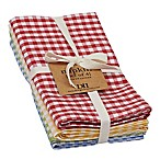 Design Imports Farmhouse Check Napkins (Set of 4)