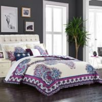 Chic Home Samadhi 5-Piece Reversible King Comforter Set in Purple
