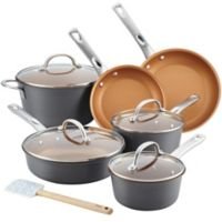 Ayesha Curry™ Hard Anodized Aluminum 11-Piece Cookware Set in Charcoal Grey