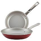 Ayesha Curry™ Porcelain Enamel Nonstick 2-Piece Skillet Set in Sienna Red