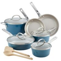 Ayesha Curry™ Porcelain Enamel Nonstick 12-Piece Cookware Set in Twilight Teal