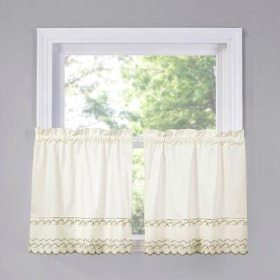Beverly 36 Inch Kitchen Window Curtain Tier Pair In Dill