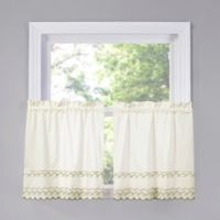 Beverly 24-Inch Kitchen Window Curtain Tier Pair in Dill