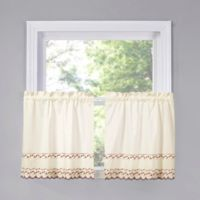 Beverly 24-Inch Kitchen Window Curtain Tier Pair in Red