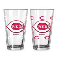 MLB Cincinnati Reds Color Changing Pint Glasses (Set of 2)