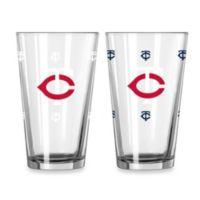 MLB Minnesota Twins Color Changing Pint Glasses (Set of 2)