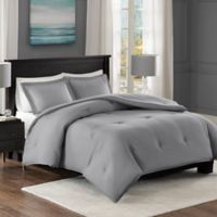 Madison Park Essentials Yarn-Dyed Heather Down Alternative Full/Queen Comforter Set in Grey
