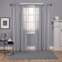 Exclusive Home Santos 84-Inch Rod Pocket Window Curtain Panel Pair in Light Grey