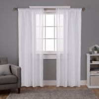 Exclusive Home Santos 96-Inch Rod Pocket Window Curtain Panel Pair in White