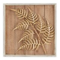 Madison Park Fern Cluster Metal/Wood Wall Art in Brown/Gold