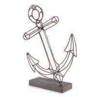Madison Park Anchor Sculpture in Gold/Brown
