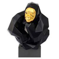 TOV Furniture Pondering Ape Small Sculpture in Black
