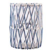 Home Essentials & Beyond Macrame Hurricane Candle Holder in Blue