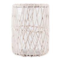 Home Essentials & Beyond Macrame Hurricane Candle Holder in White