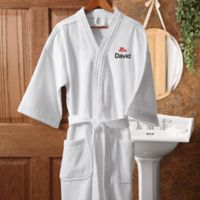 """His"" White Spa Robe"