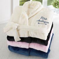 Mrs. Embroidered Luxury Fleece Robe