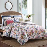 Coastal Life Birds of Paradise Twin Comforter Set in White