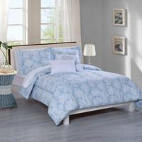 Newport 5-Piece Full/Queen Comforter Set in Blue