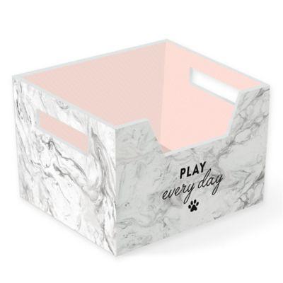 Fringe Studio™ Marble Mix Pet Storage Bin in Grey  sc 1 st  Bed Bath u0026 Beyond & Buy Pet Toy Storage from Bed Bath u0026 Beyond