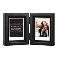 """Gallery 2-Opening 2.5-Inch x 3.5"""" Wood Frame in Black"""