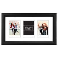 """Gallery 3-Opening 2.5-Inch x 3.5"""" Wood Frame in Black"""