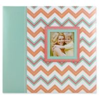 Pastel Chevron Glitter Scrapbook with Photo Opening