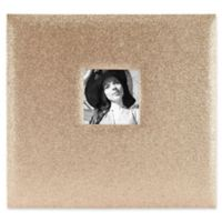 Golden Glitter Scrapbook with Photo Opening