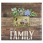 My Family Rustic Wood Scrapbook