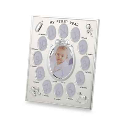 Prinz 1st Year Collage Frame in Silver Plated