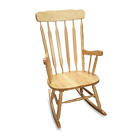 giftmark adult rocking chair natural finish bed bath