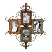 Ridge Road Décor Fleur-de-Lis Multicolor Wall Photo Frame Collage
