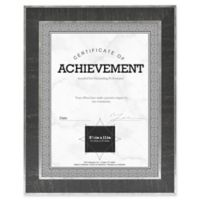 Eastonian 8.5-Inch x 11-Inch Wood Wall Frame in Black with Silver