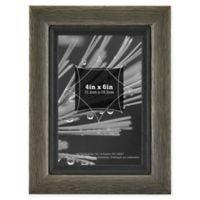 Grandis 4-Inch x 6-Inch Wood Frame in Grey/Black