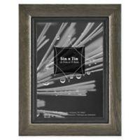 Grandis 5-Inch x 7-Inch Wood Frame in Grey/Black