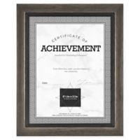 Grandis 8.5-Inch x 11-Inch Wood Frame in Grey/Black