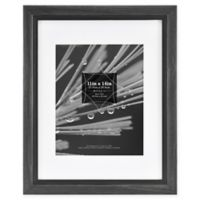 Grandis 8-Inch x 10-Inch Matted Wood Frame in Black