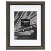 Grandis 8-Inch x 10-Inch Matted Wood Frame in Grey