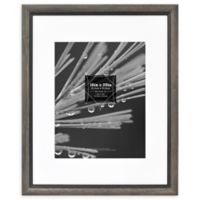 Grandis 11-Inch x 14-Inch Matted Wood Frame in Grey