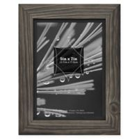 Timber 5-Inch x 7-Inch Wood Frame in Grey/Black
