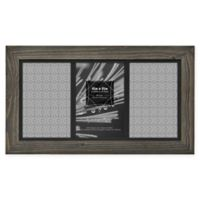 Timber 4-Inch x 6-Inch Matted Wood Frame in Grey/Black