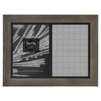 Timber 5-Inch x 7-Inch Matted Wood Frame in Grey/Black