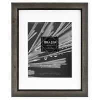Timber 8-Inch x 10-Inch Matted Wood Frame in Grey/Black