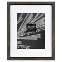 Timber 11-Inch x 14-Inch Matted Wood Frame in Grey/Black